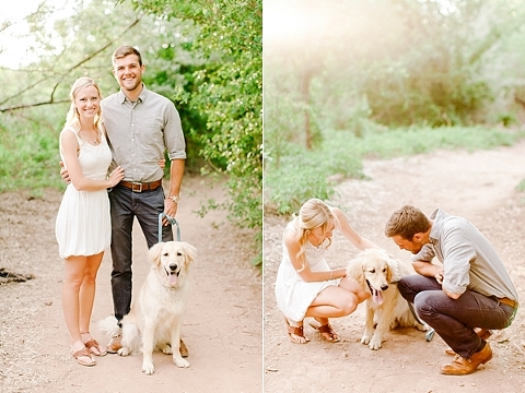 Engagement Session with Golden Retriever
