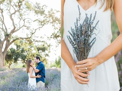 Santa Barbara Lavender Field Engagement Session