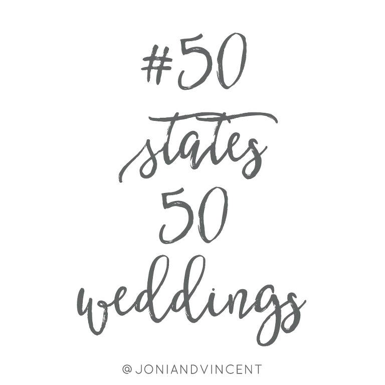 Destination wedding photographer's goal of shooting a wedding in every state in the U.S.