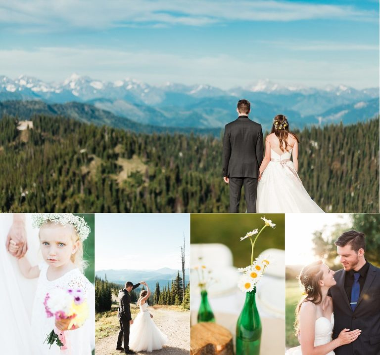 Wedding Dress in Sky Montana