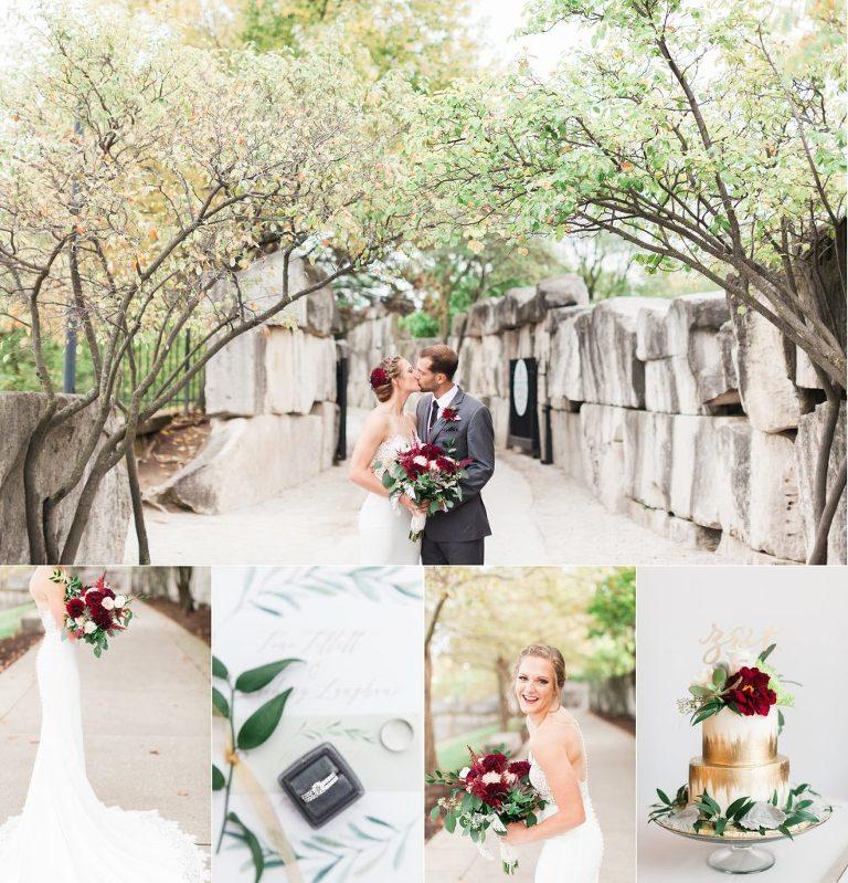 Indiana Historical Society Wedding on the Terrace | Fall Indiana Wedding | Indianapolis Wedding Photographer
