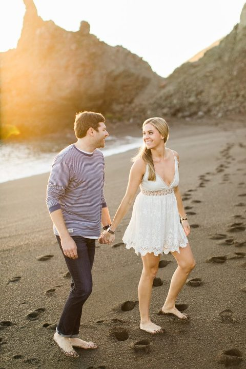 Black Sands Beach Engagement Session