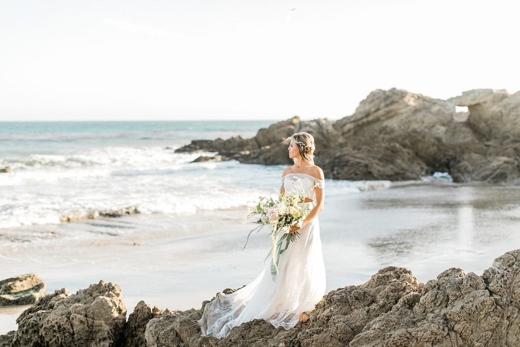 Inspiration for a Malibu elopement at Leo Carrillo State Beach