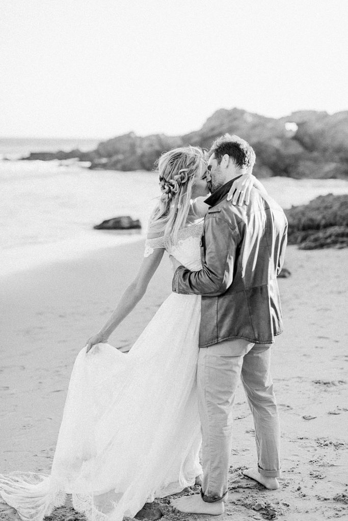 Bride and Groom boho wedding pictures