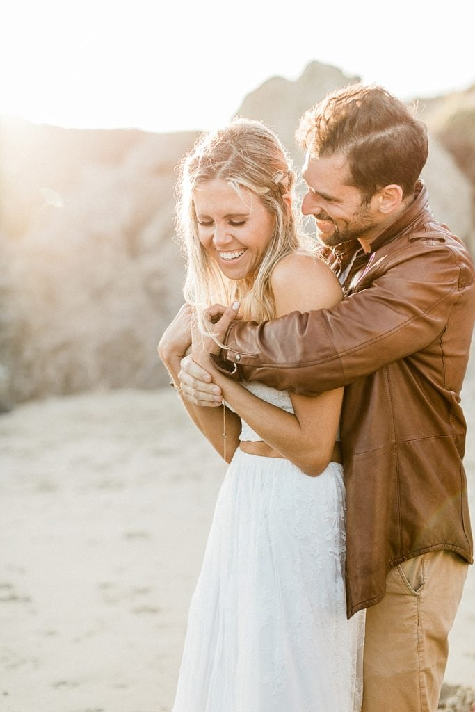 Fun Malibu elopement