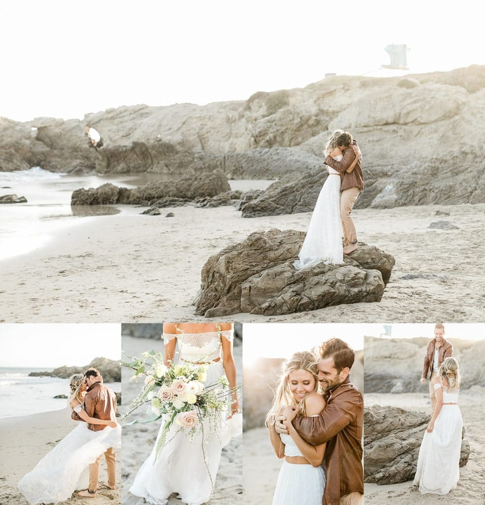 Boho Malibu Beach Elopement Inspiration at Leo Carrillo State Beach